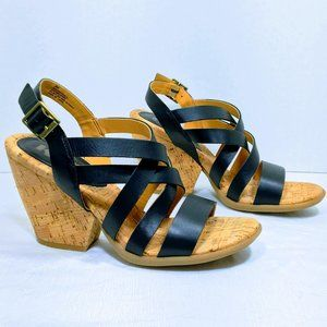 Korks Nedra Notch Wedge Sandals